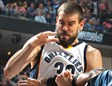 Marc Gasol con cara de esfuerzo ante Mo Williams