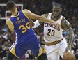 LeBron James intenta superar a Stephen Curry