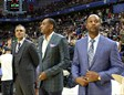 Rick Fox, Steve Smith y Brian Shaw en Madrid