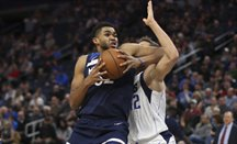 Towns, en un partido ante Dallas Mavericks