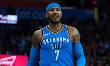 Carmelo Anthony, en el partido ante Houston