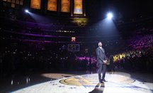 Kobe Bryant, en plena ceremonia