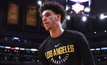 Los Lakers vencen con el segundo triple-doble de Lonzo Ball