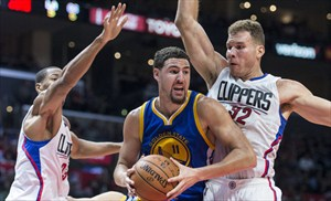 Klay Thompson anotó 24 puntos ante los Clippers