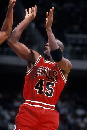 moins cher e828c 452c5 La temporada en la que Michael Jordan fue el 45 de los Bulls ...