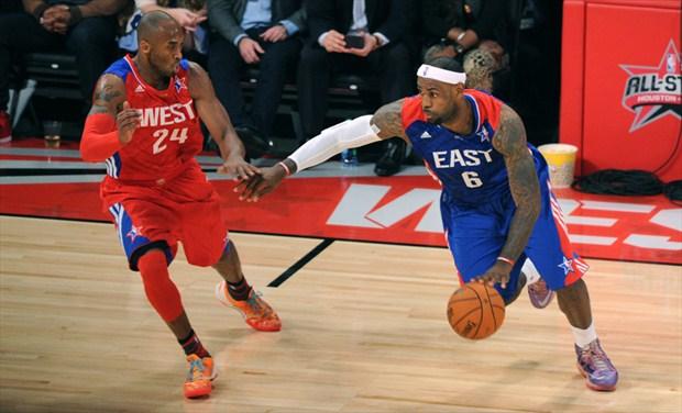 Kobe Bryant y LeBron James ocupan la primera y tercera plaza en la votación