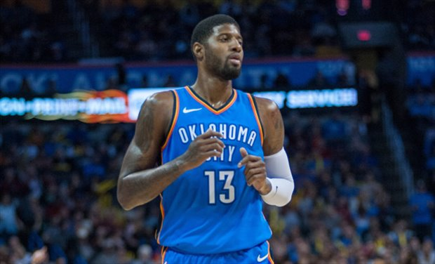 Paul George anotó 38 puntos en el Warriors-Thunder