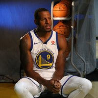 Andre Iguodala en el Media Day de esta temporada