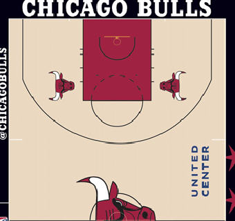 Chicago Bulls halfcourt