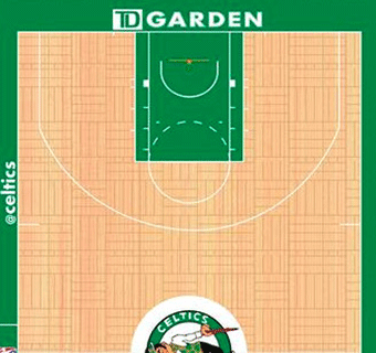 Celtics halfcourt