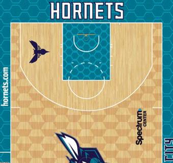 Hornets halfcourt