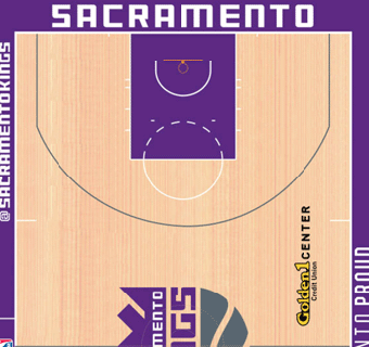 Sacramento Kings halfcourt