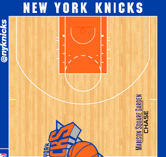 New York Knicks halfcourt
