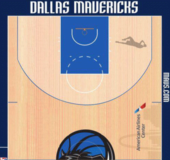 Mavericks halfcourt