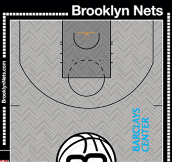 Brooklyn Nets halfcourt