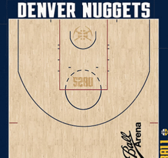 Nuggets halfcourt