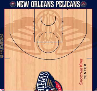 New Orleans Pelicans halfcourt