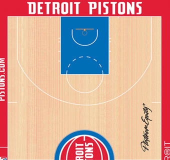 Pistons halfcourt