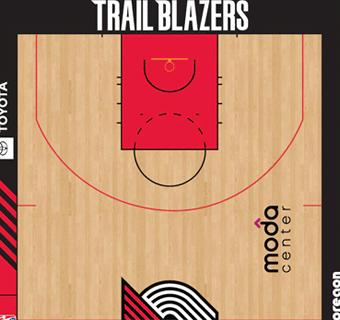 Portland Trail Blazers halfcourt