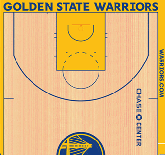 Golden State Warriors halfcourt