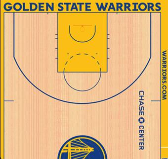 Warriors halfcourt